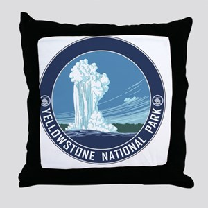 circle-Yellowstone_v3 Throw Pillow